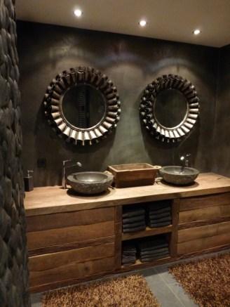 Beton Ciré in de badkamer: Wastafel