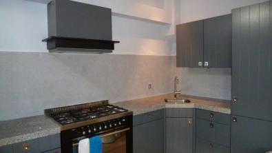 Beton Ciré keukenwand Zoetermeer