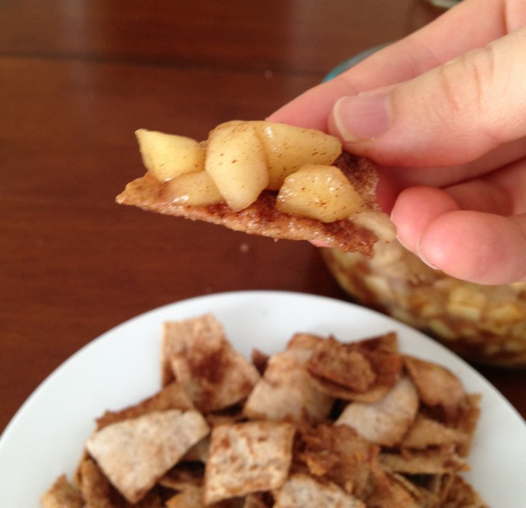 Apple Pie Dip and Cinnamon Sugar Pita Chips.