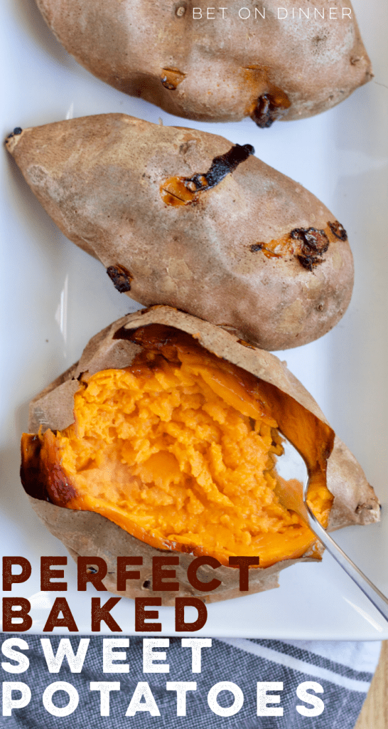 Making perfect baked sweet potatoes is easy with a few tricks. I love how these come out with the perfect texture every time!