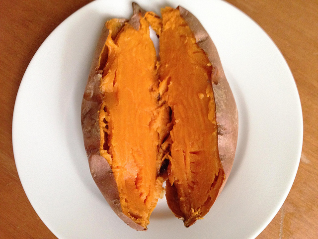Baked Sweet Potatoes.