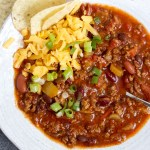 This hearty chili is full of celery, peppers, and onions, with lots of layers of flavor!