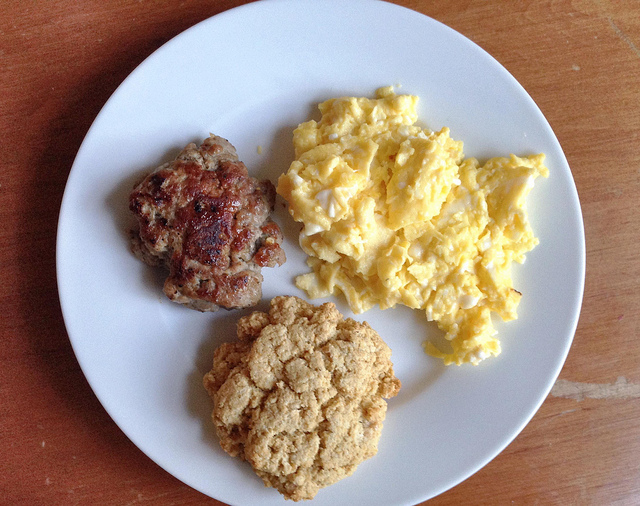 First Taste: Homemade Breakfast Sausage (and cornmeal-maple drop biscuits).