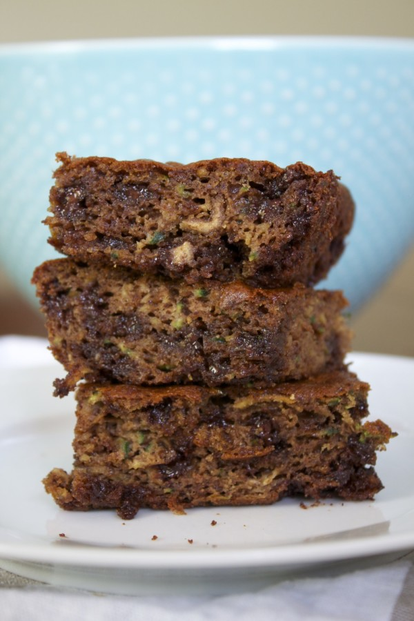 Flourless Chocolate Chip Zucchini Snack Cake.