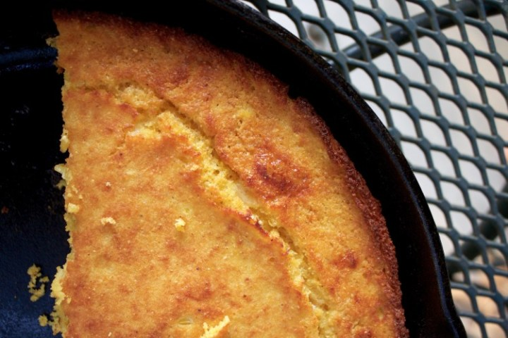 fresh corn cornbread looking toasty