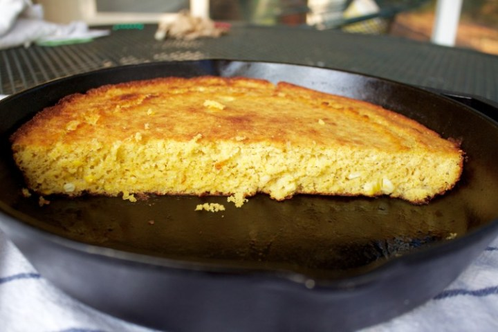 inside of fresh corn cornbread