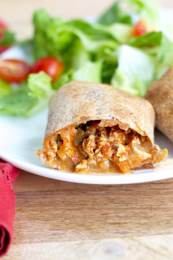 Veggie-Packed Baked Burritos (for the freezer).