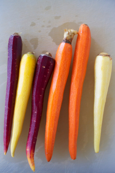 colorful carrots for roasted carrots