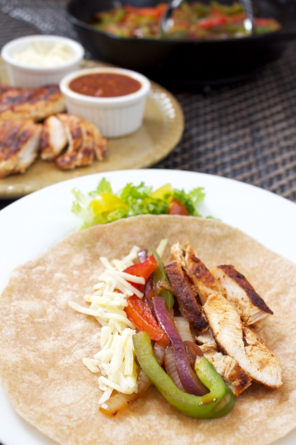One-Pan Chicken Fajitas.