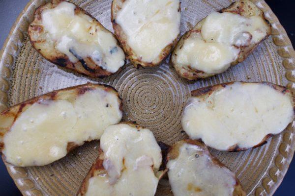 Crispy Cheesy Grilled Potatoes.