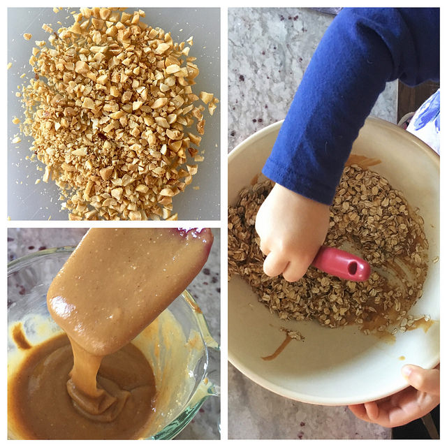 making-chewy-chocolate-peanut-butter-flax-granola-bars
