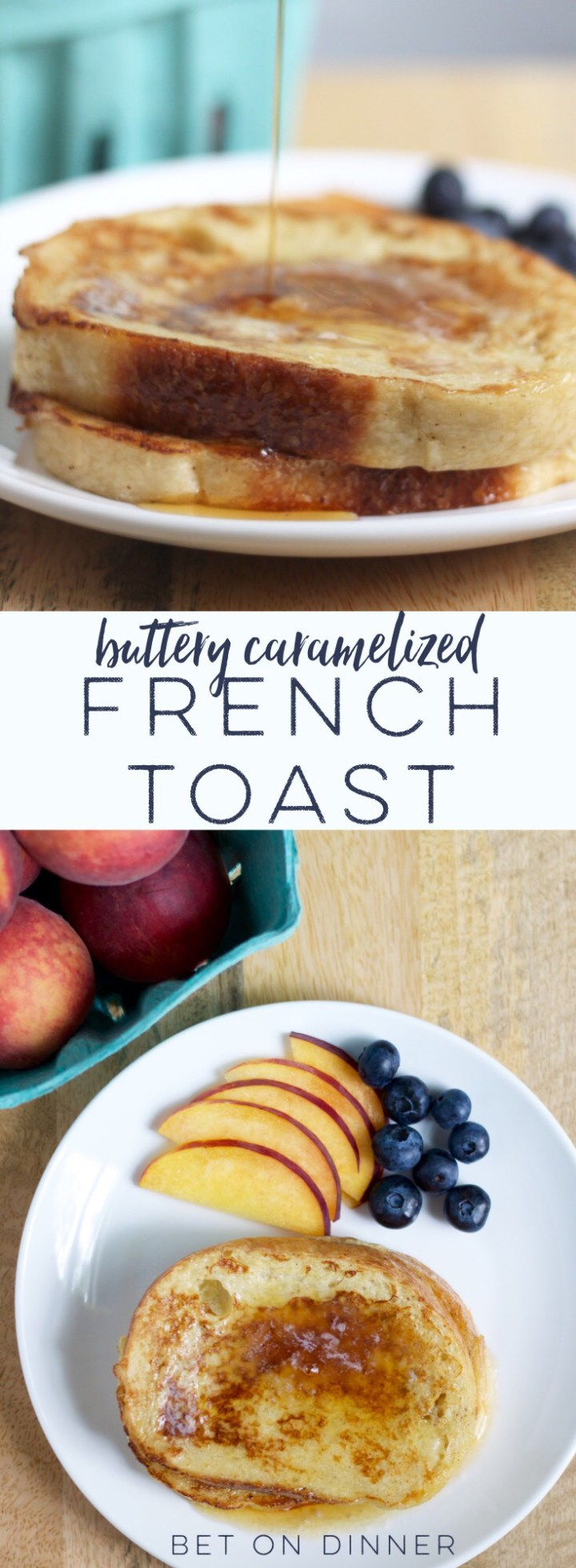 This French toast has the best soft, custardy interior, chewy crust, and buttery caramelized surface!