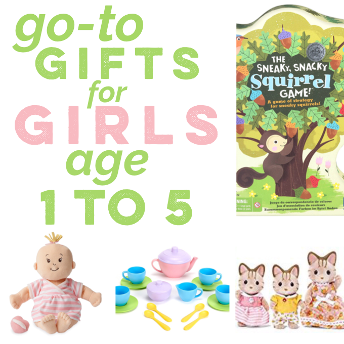 My Go-To Gifts for Girls Age 1 to 5.