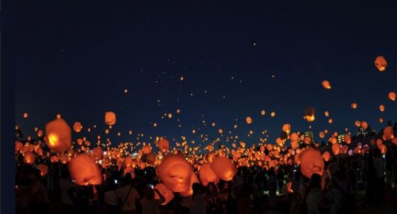 lantern lễ hội thả đèn trời