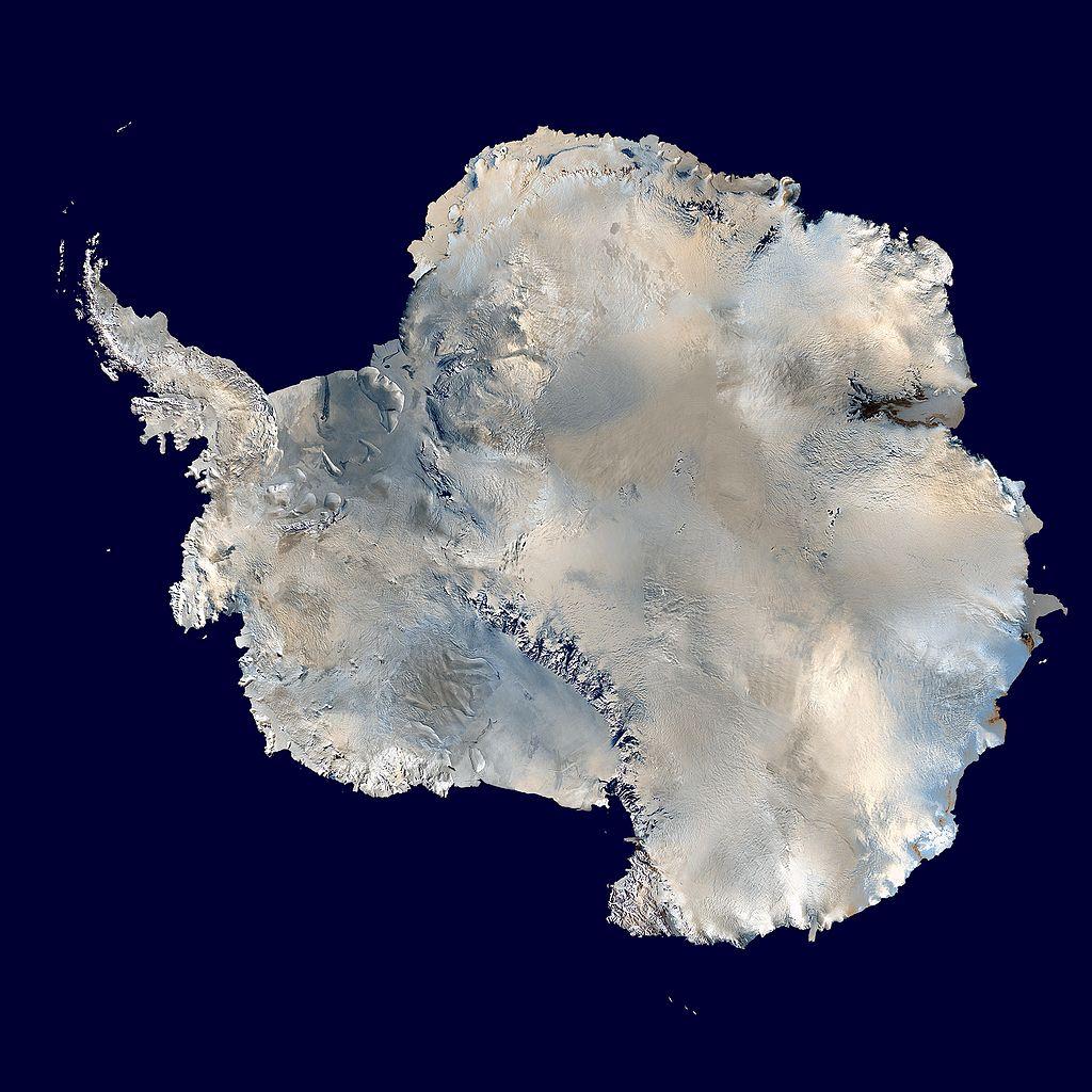 Die Antarktis vom Weltall aus gesehen