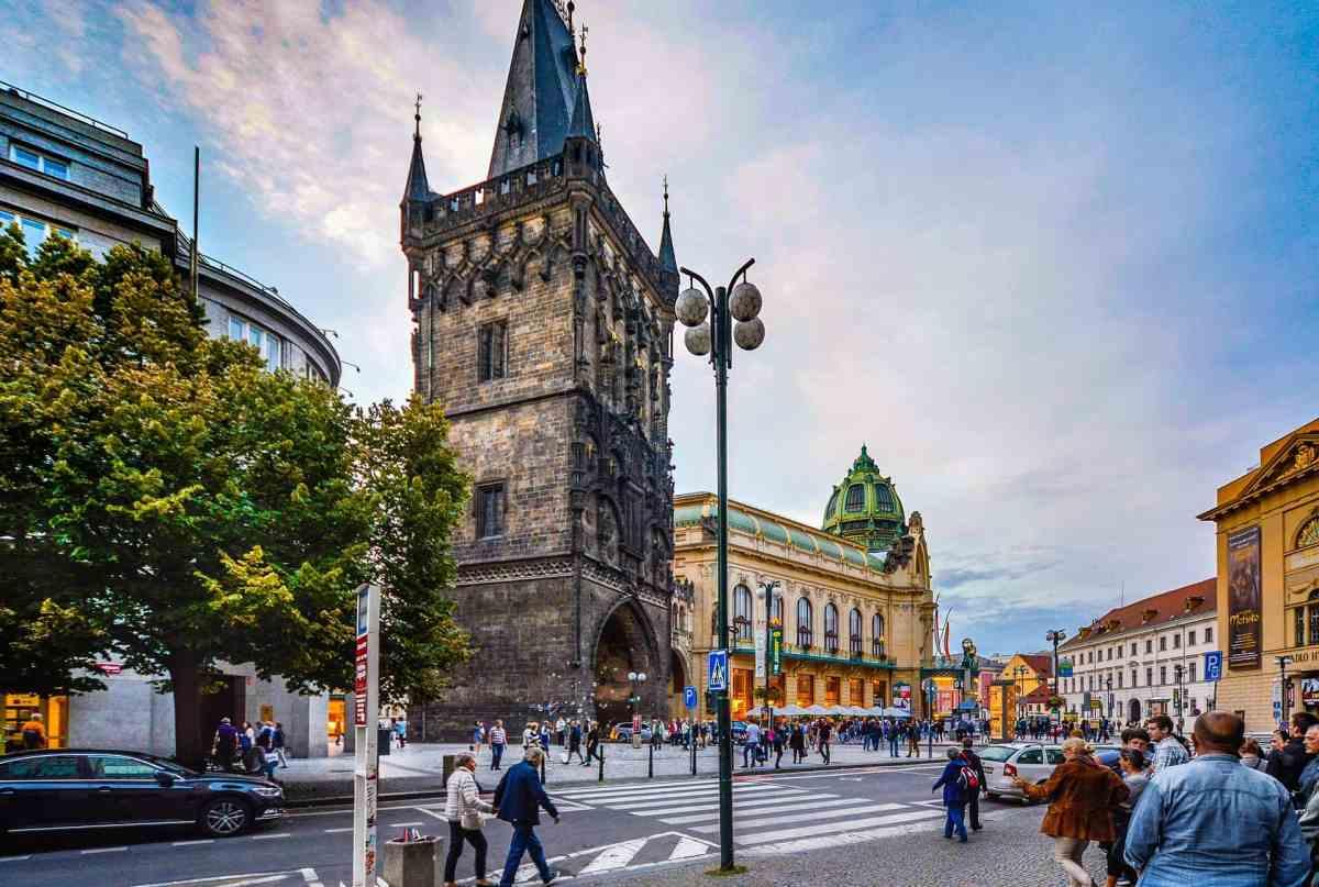 Straßenszene Prag