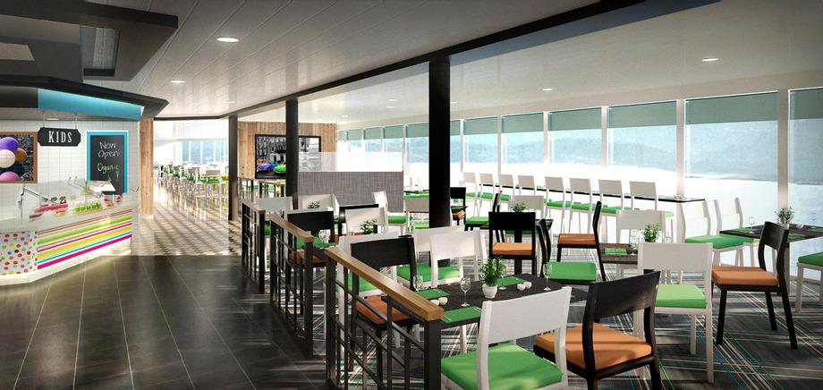 © TUI Cruises: Das Buffet-Restaurant Anckelmannsplatz an Bord der Mein Schiff 6