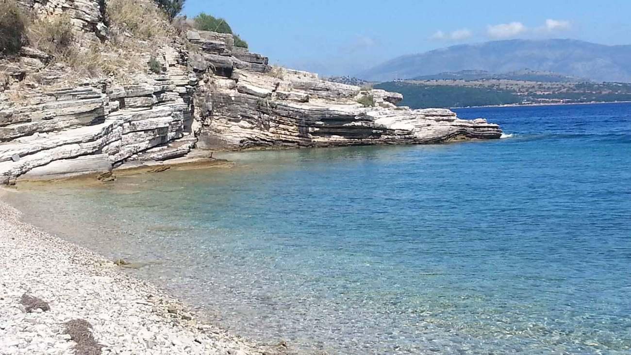 Korfu Bucht Kristallklares Wasser