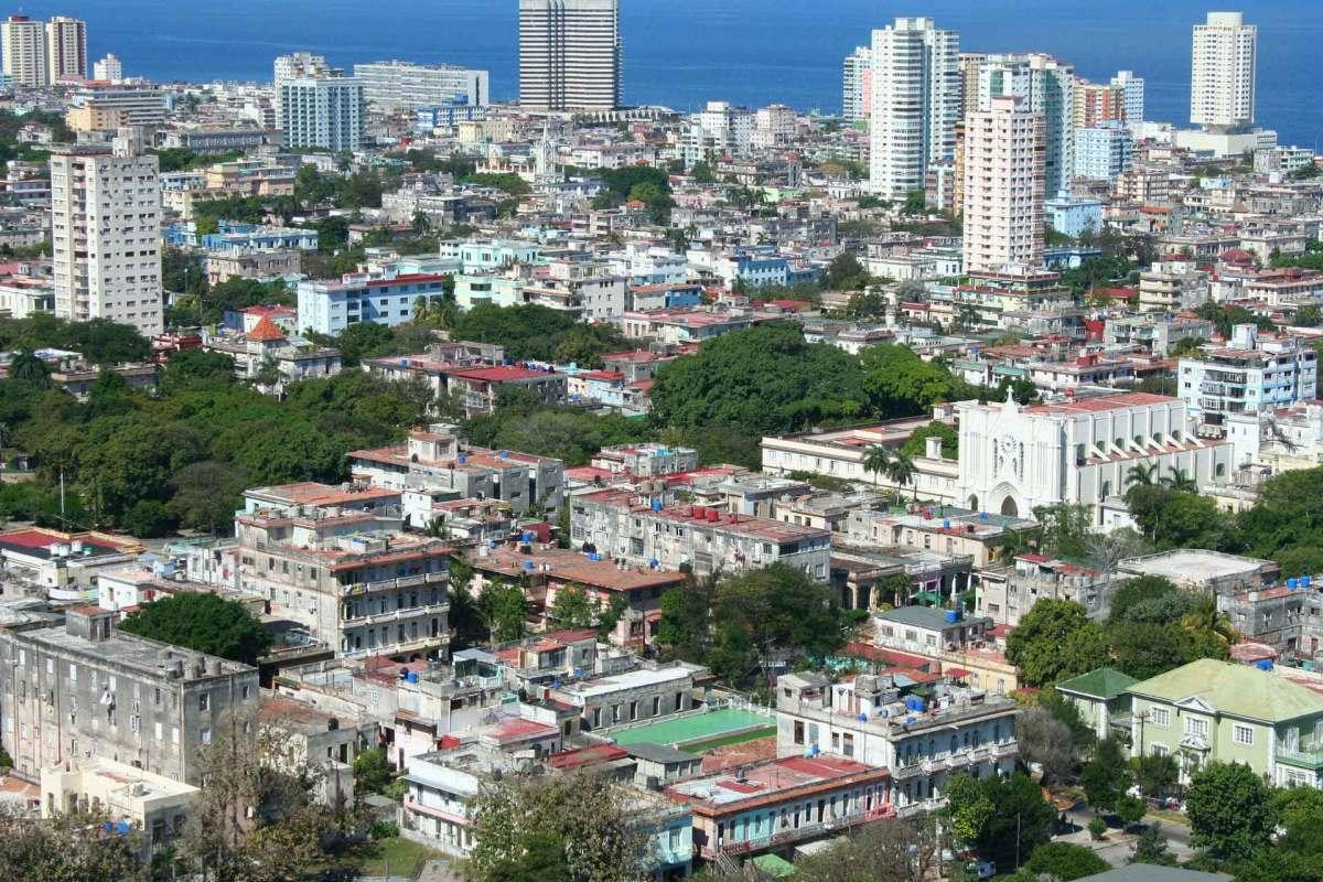 Kubas Hauptstadt Havanna aus der Luft