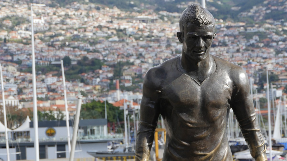 Cristiano Ronaldo Statue Funchal Madeira