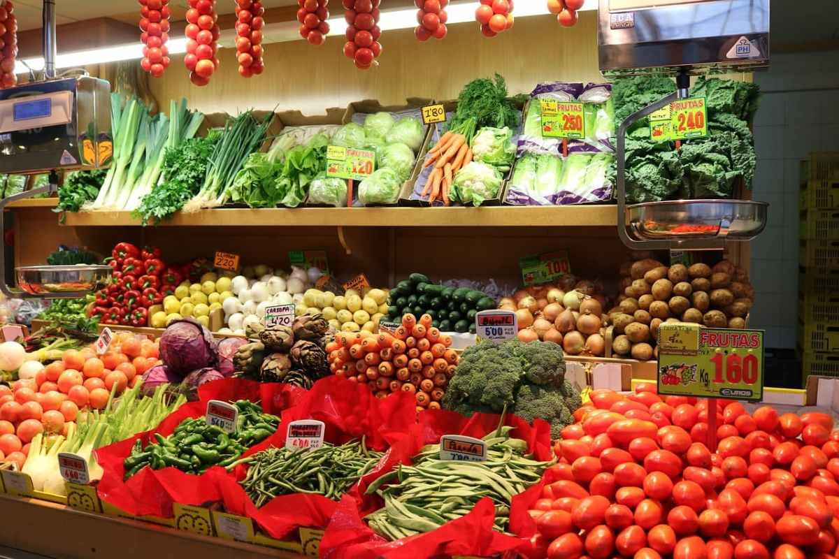 Typisches Bild auf einem Bauernmarkt auf Mallorca