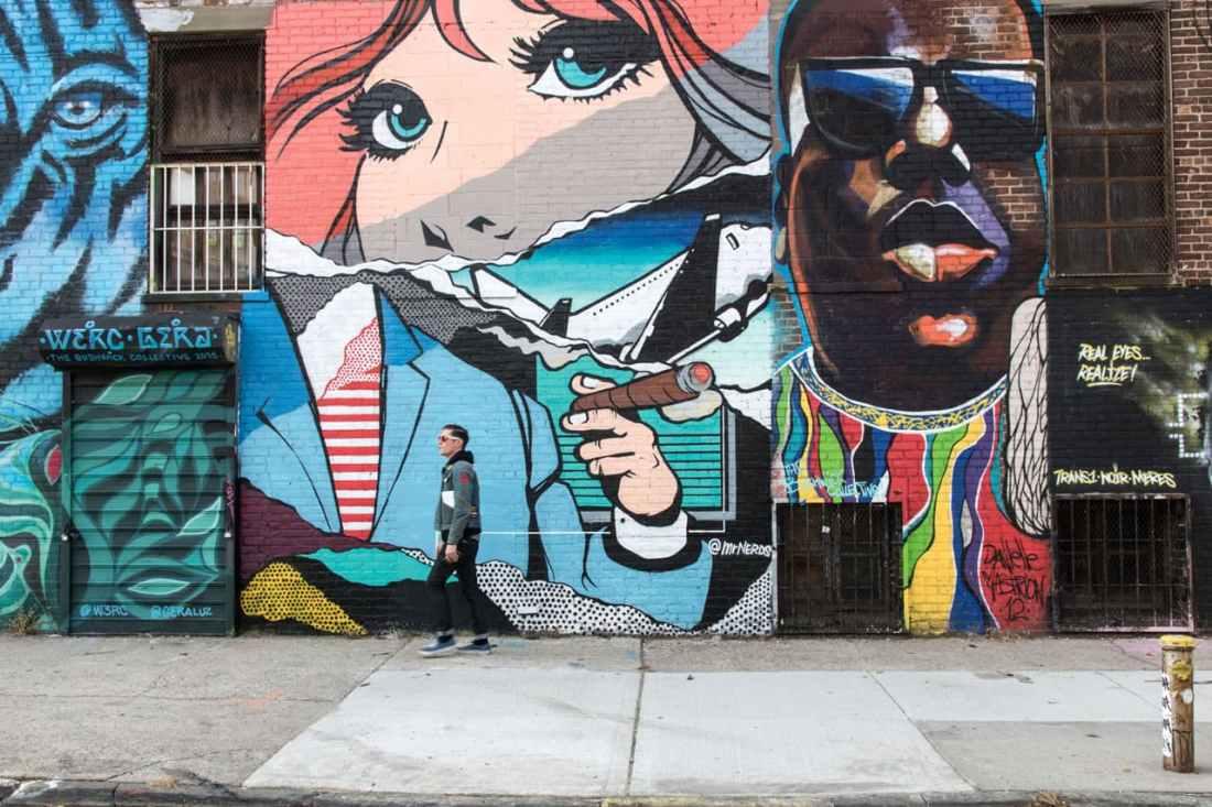 Graffiti im Viertel Bushwick