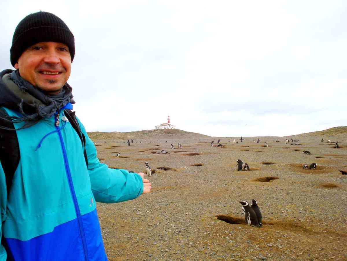Axel C. Brüggemann auf der Isla Magdalena im Feuerland, Chile