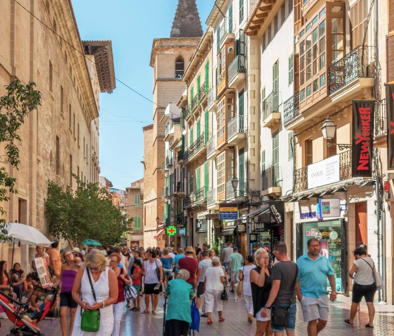 Das Stadtzentrum von Palma de Mallorca