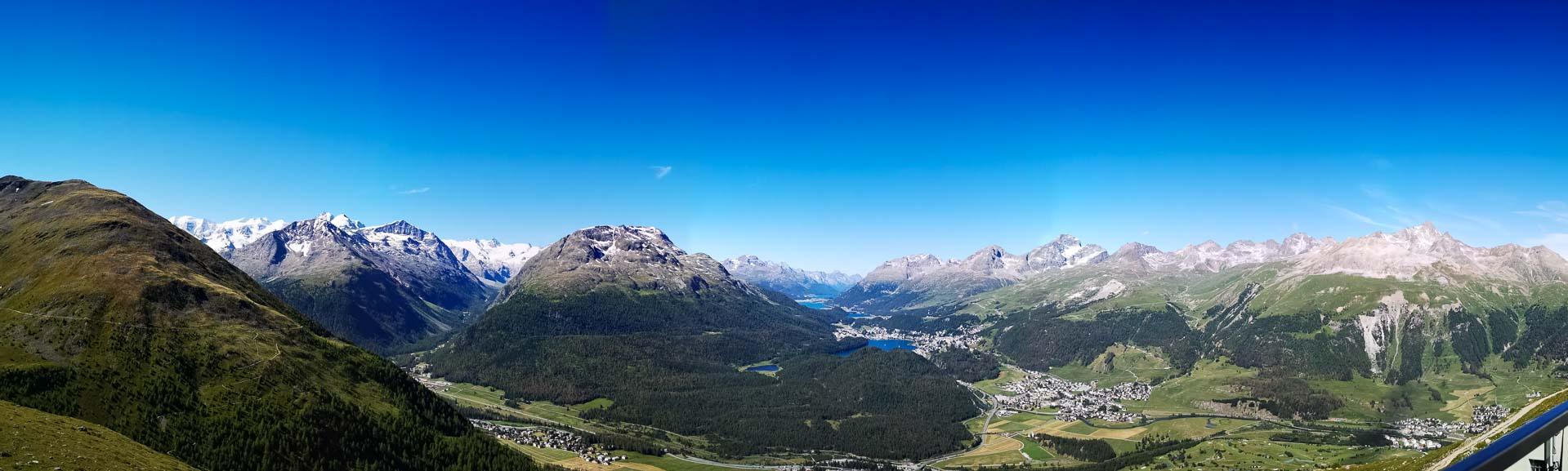 Panorama Engadiner Berge