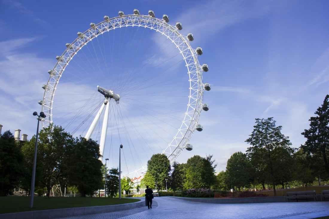 Das London Eye, ein Wahrzeichen von London.
