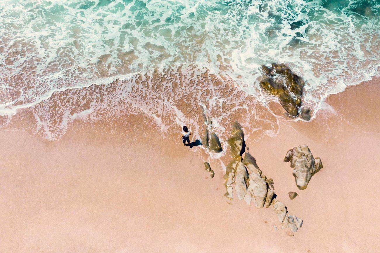 Heller Strand auf São Miguel