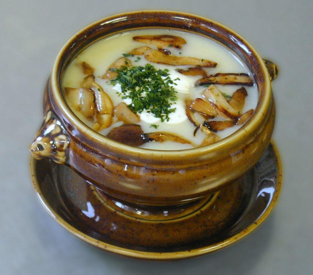 Pilzcremé Suppe