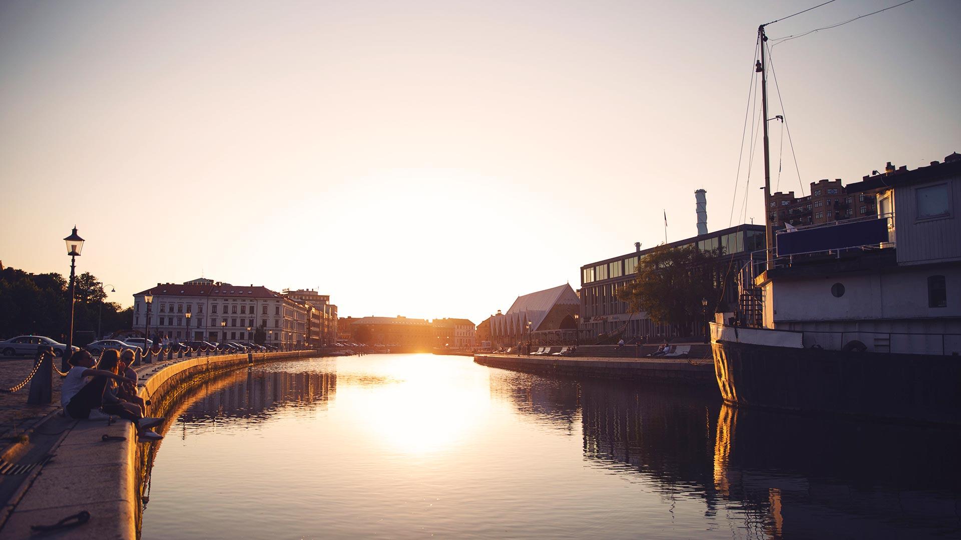 Sonnenuntergang in Göteborg