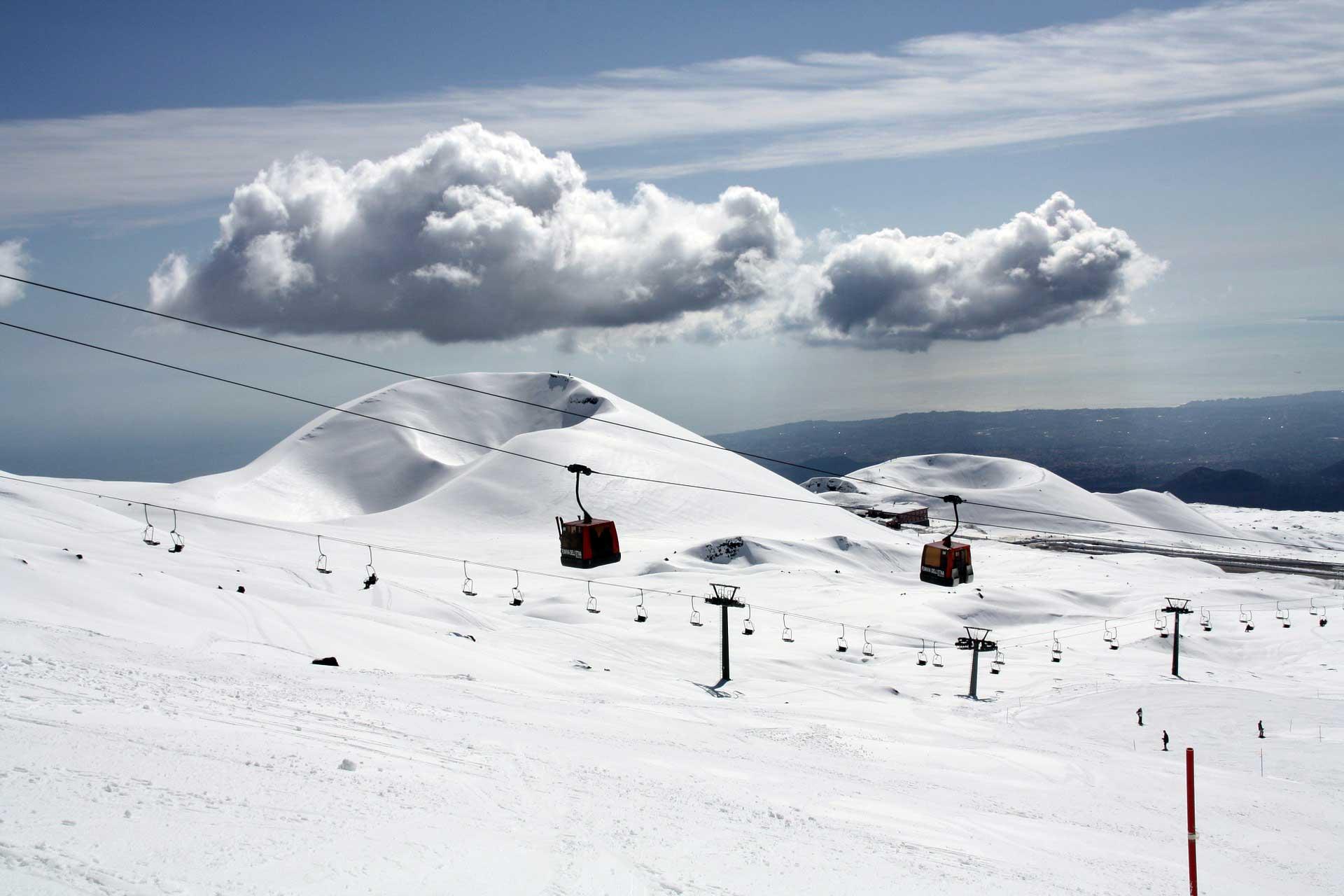Ätna, Skigebiet, Sizilien