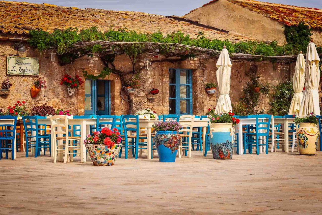 Restaurant, Taverna, Sizilien