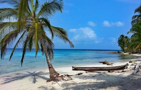 Sonne, Strand, Palmen und Meer