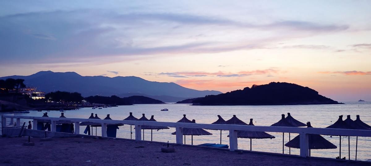 Sonnenuntergang bei Ksamil Albanien