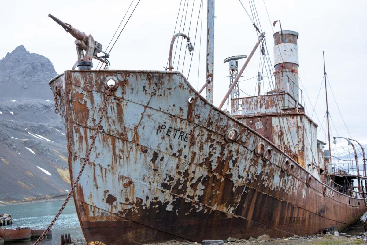 Petrel, ehemaliges Walfangboot, Grytviken, Südgeorgien