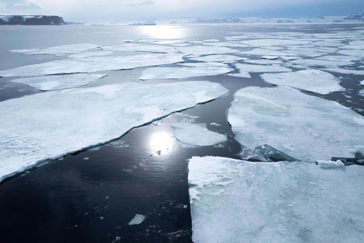 Antarktis. Packeis