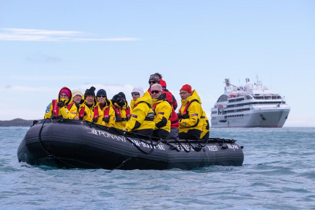Zodiac Exkursion. Ponant Cruises