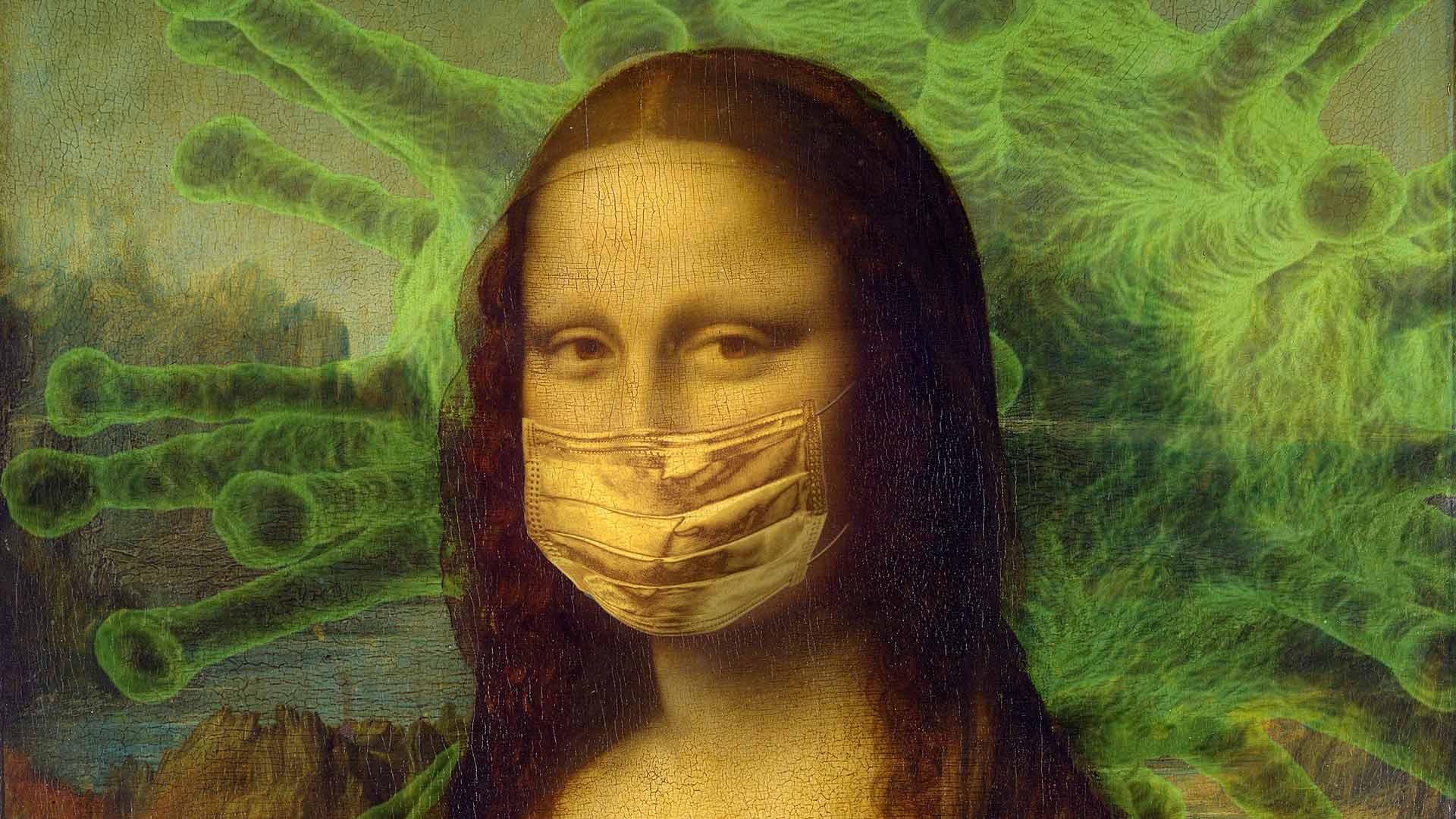 Mona Lisa Covis-19 Maske
