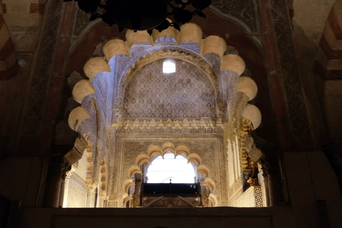 Turm der Mezquita-Catedral de Córdoba von innen