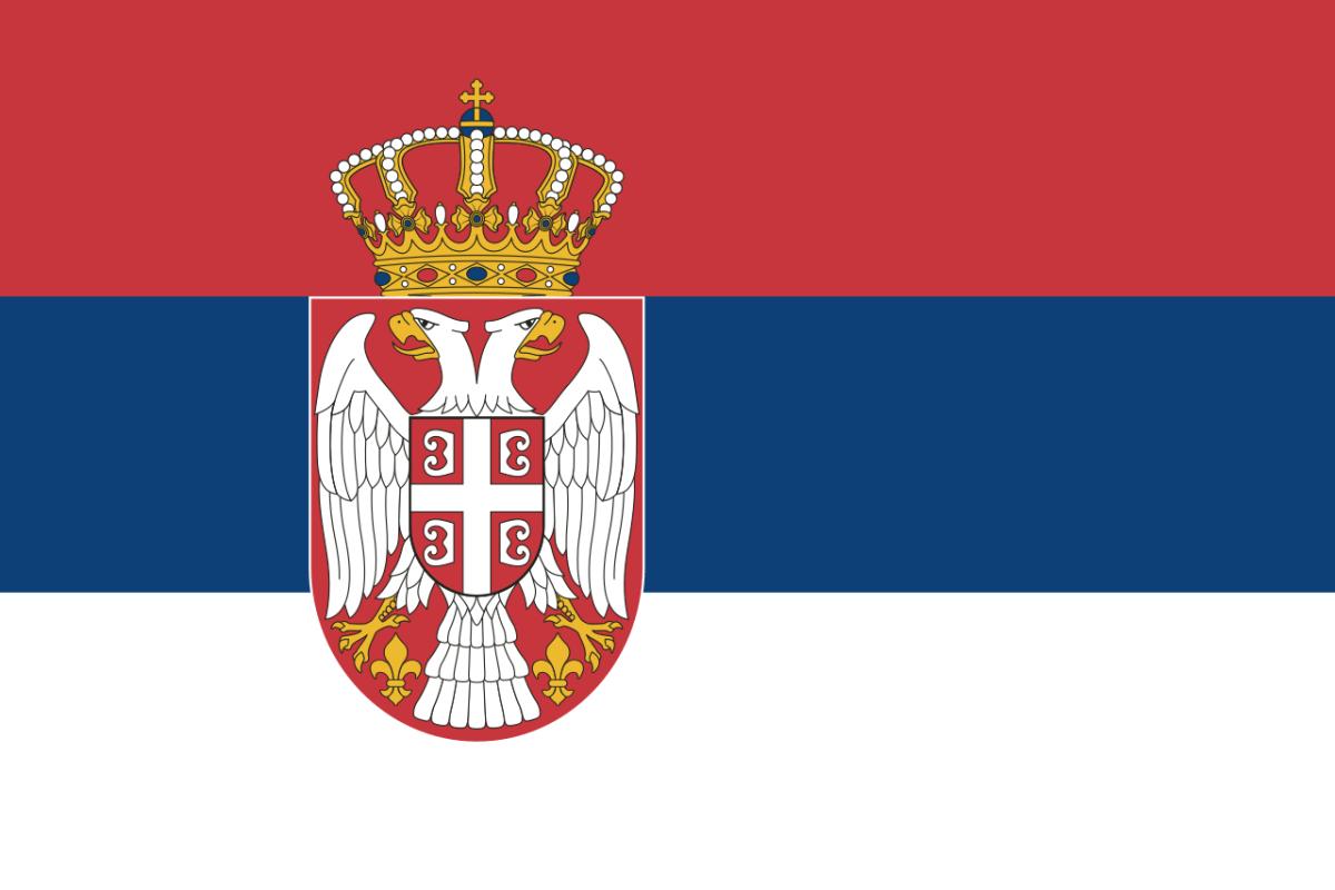 Nationalflagge Serbiens