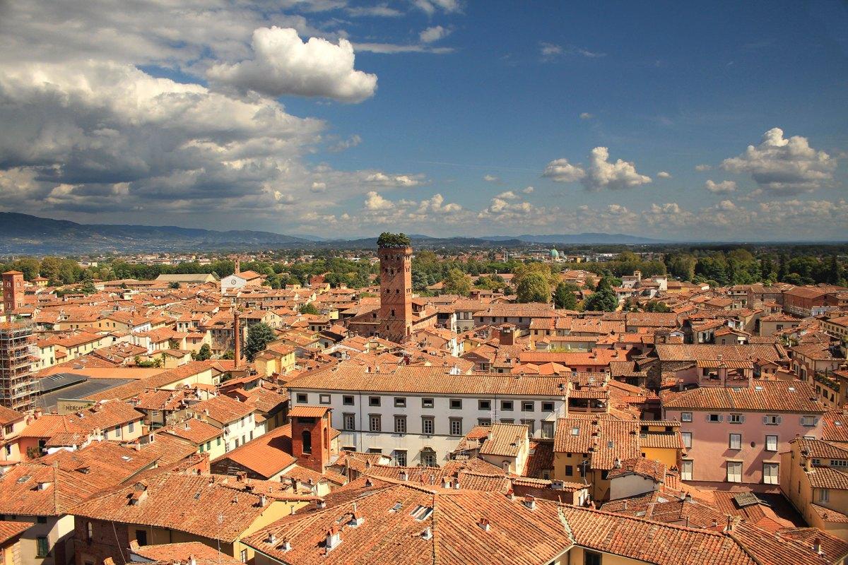 Lucca aus der Vogelperspektive