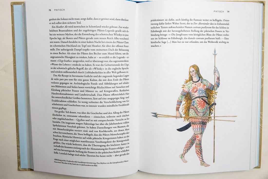 """Darstellung einer Piktin aus dem Buch """"Atlas der verlorenen Sprachen"""" von Rita Mielke"""
