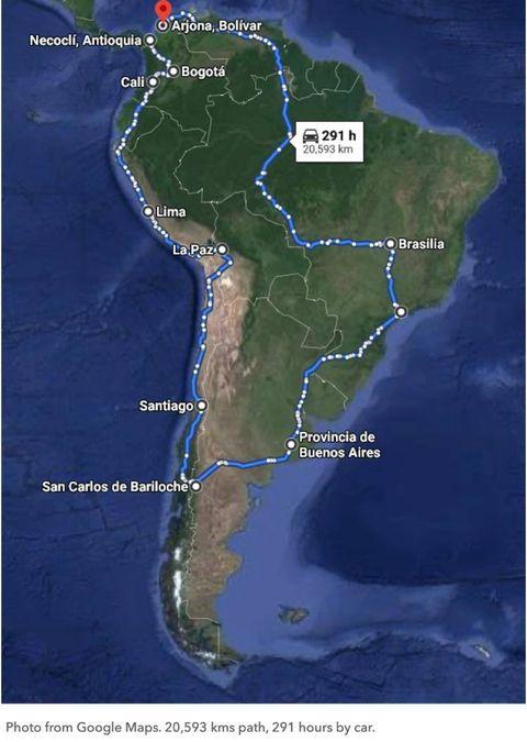 Alejandro Hilton, Tournee durch Südamerika