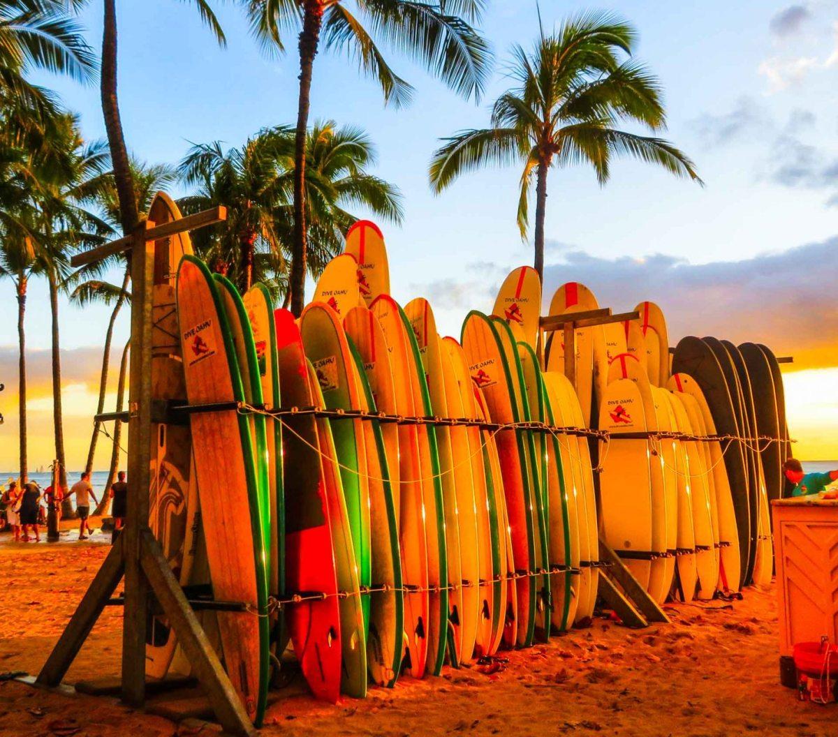 Surfen auf Kauai, Hawai
