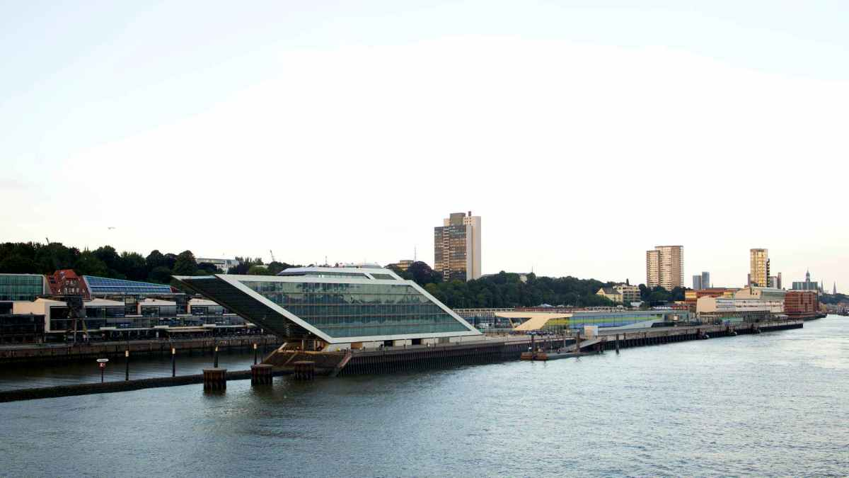 Hamburg Altona Elbe Hafengelände