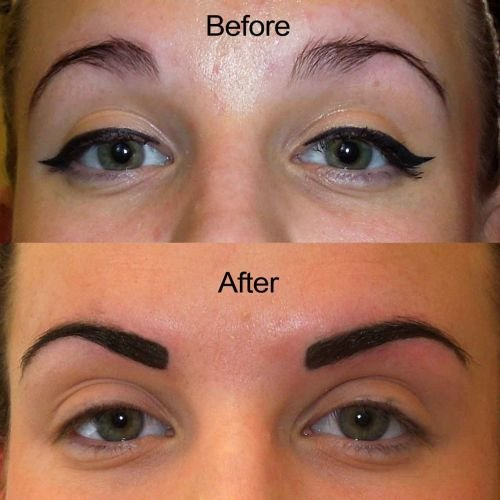Semi Permanent Eyebrows Tatoss Source Tatto Of Eyebrow Cost