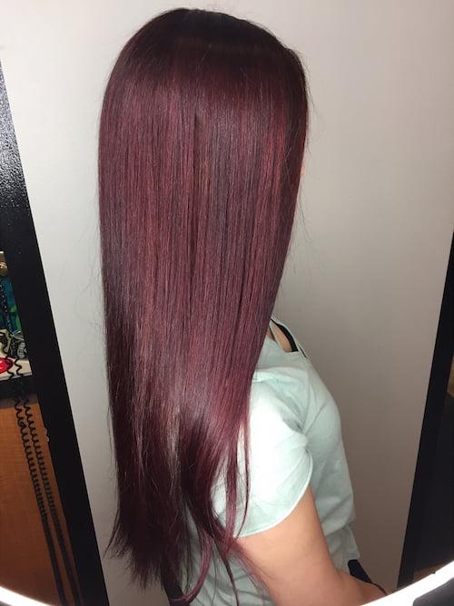 Balayage Red Length Short Hair